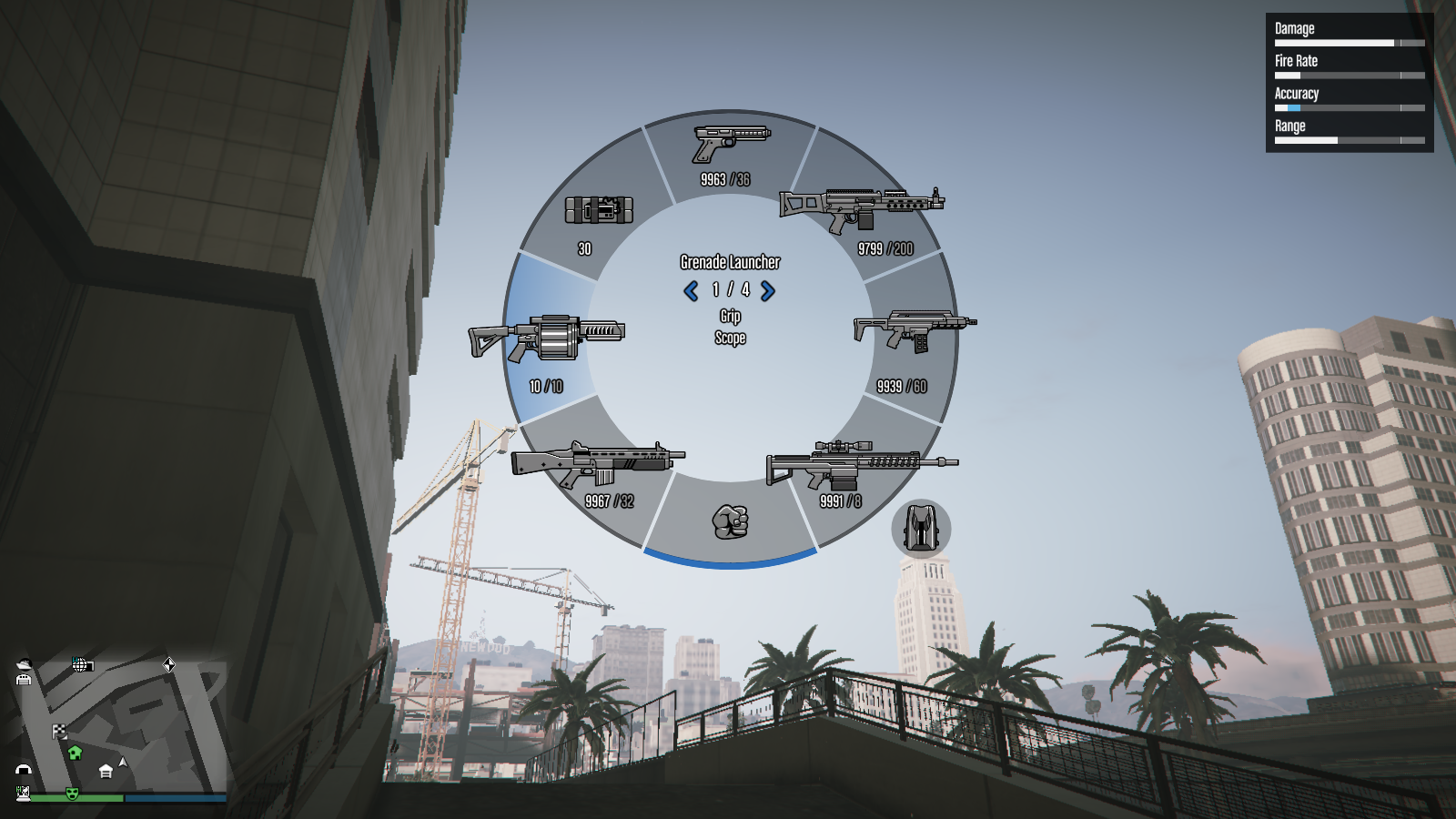 Grenade Launcher in Weapon Wheel